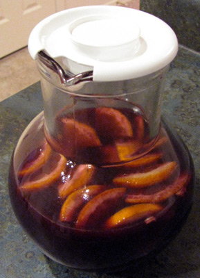 Sangria with Orange Slices.