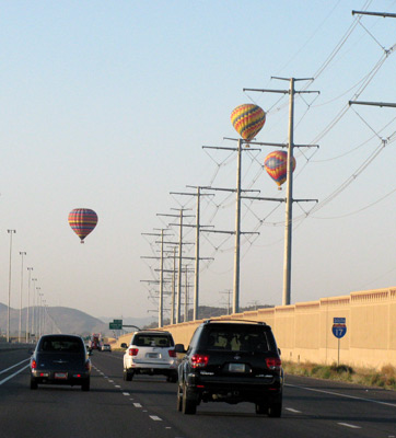 Hot Air Ballons over I-17