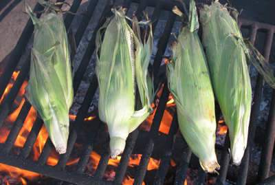 Corn over the fire