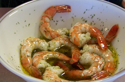 Shrimp in dill