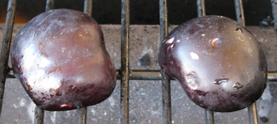 Plums on BBQ